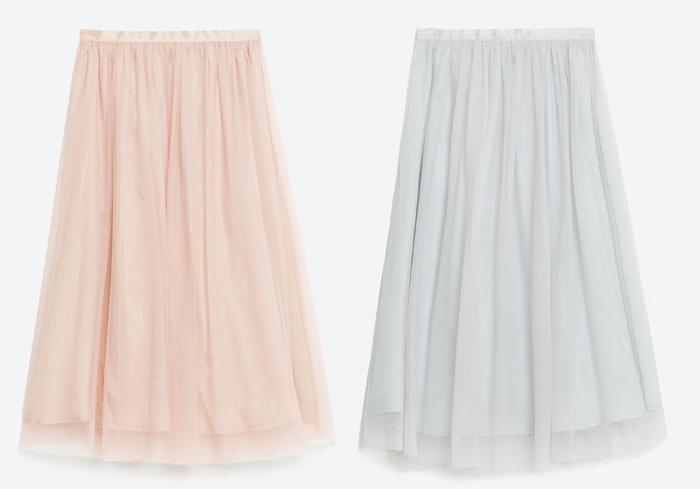 faldas de tul de zara
