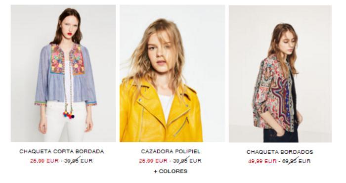rebajas zara verano 2016 chaquetas etnicas