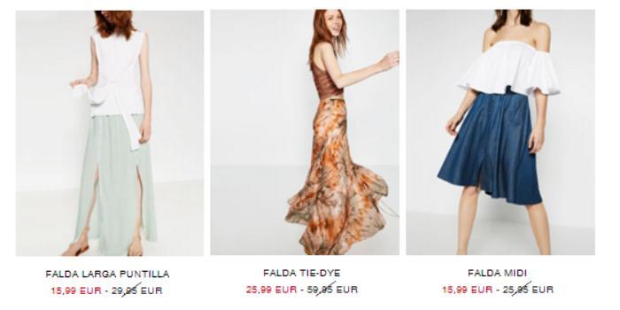 rebajas zara verano 2016 faldas
