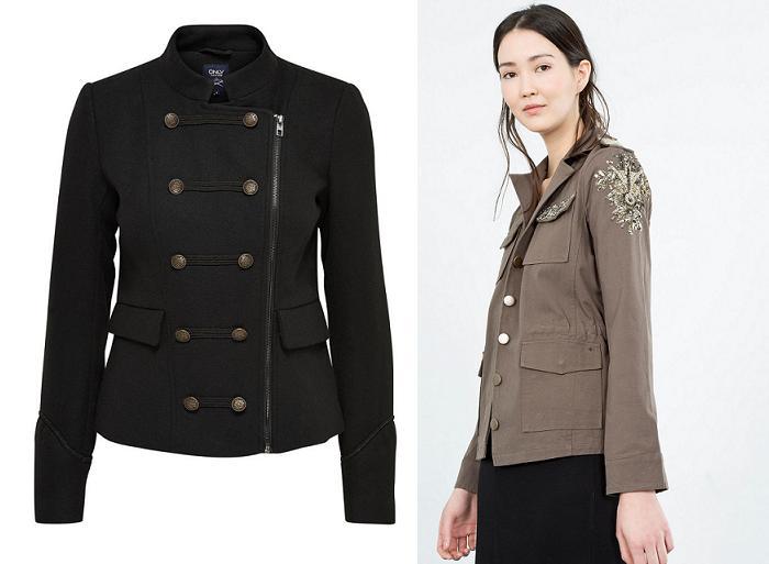 chaquetas militares moda low cost 2016 2017