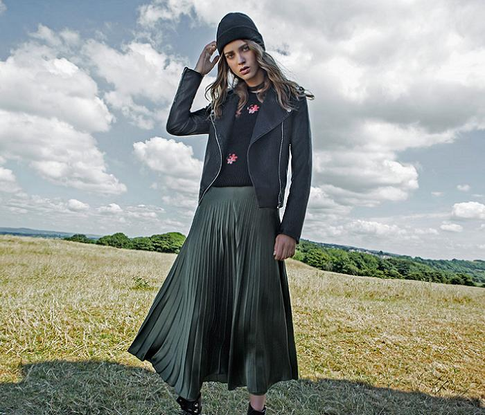 ropa stradivarius otoño invierno 2016 2017 cazadoras bordados faldas