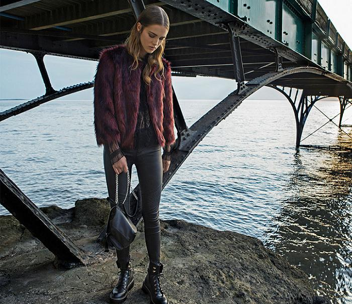 ropa stradivarius otoño invierno 2016 2017 chaquetones de pelo