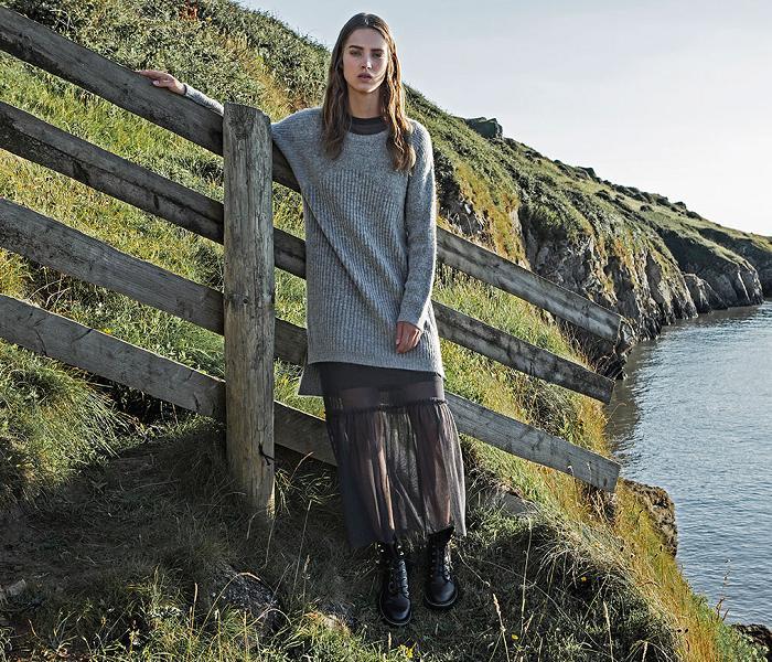 ropa stradivarius otoño invierno 2016 2017 faldas de tul