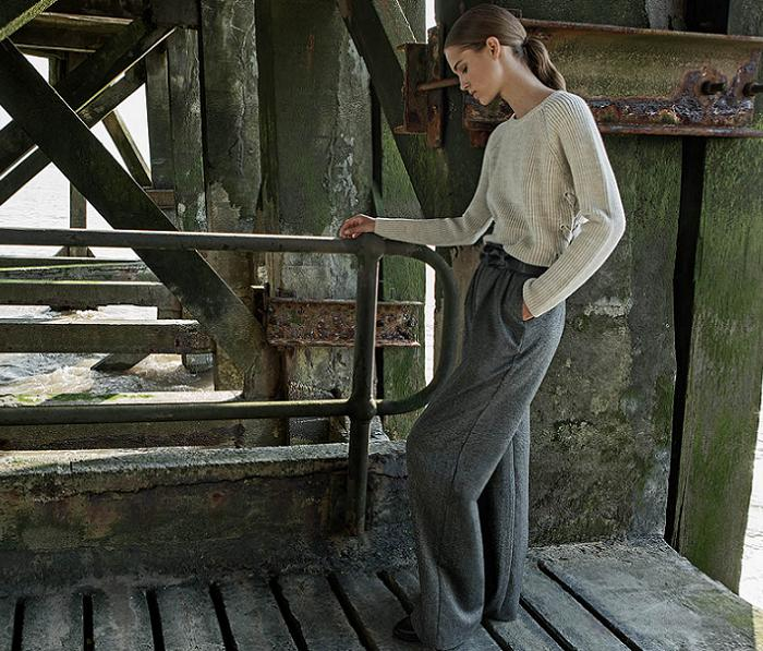 ropa stradivarius otoño invierno 2016 2017 punto pantalones