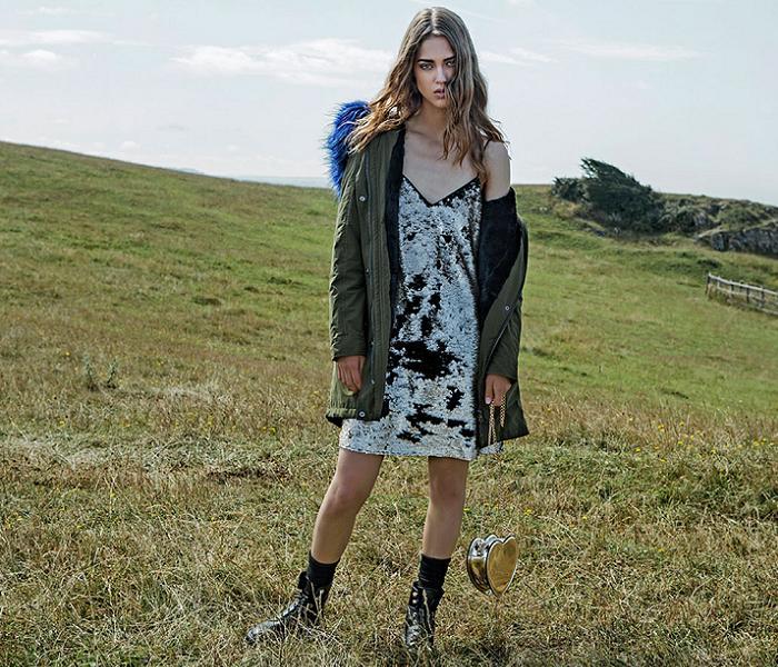 ropa stradivarius otoño invierno 2016 2017 vestidos parkas