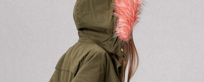 parkas con pelo de colores stradivarius