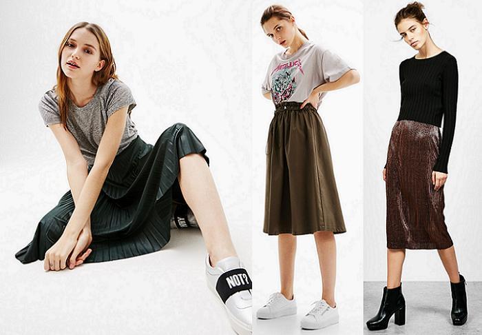 10 tendencias de la primavera 2017 faldas midi