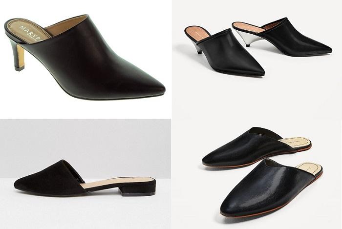zapatos mules básicos