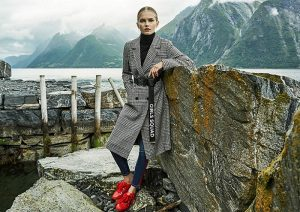 ropa stradivarius otoño invierno 2017 2018 abrigos de cuadros