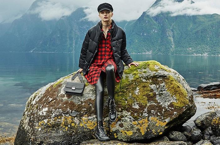 ropa stradivarius otoño invierno 2017 2018 leggins vinilo