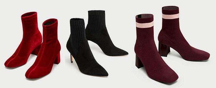 botines con calcetin zara