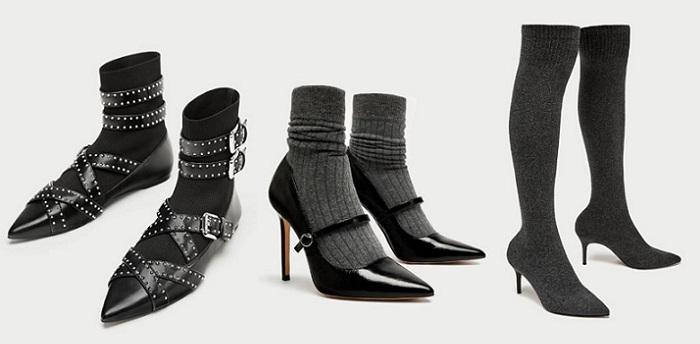 zapatos con calcetin zara