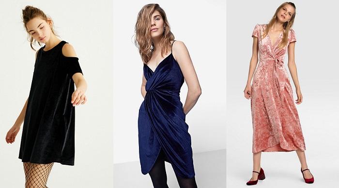 vestidos de nochevieja de terciopelo